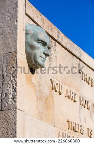 Anzac Military Cemetery in Gallipoli Peninsula,Canakkale , Turkey - stock photo