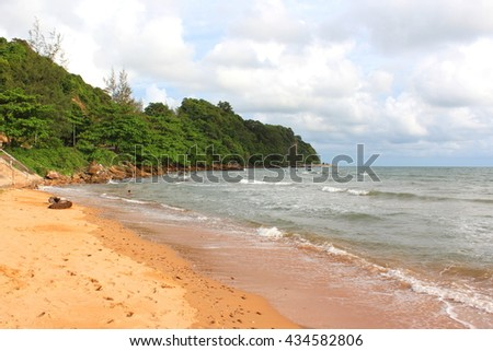 AO Khung Wiman ,Chanthaburi ,Thailand, Colorful beach.