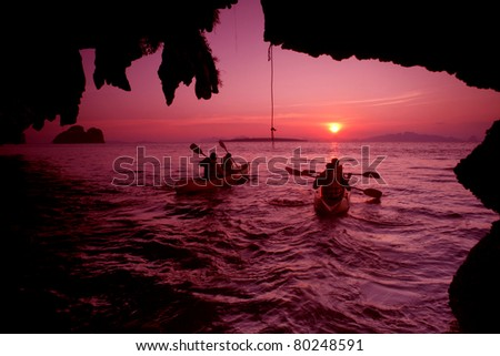 Ao Luk island south of Thailand, Krabi province, Thailand - stock photo