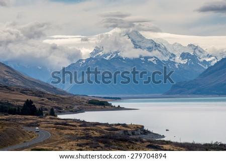 Aoraki - Mount Cook, New Zealand South Island - stock photo