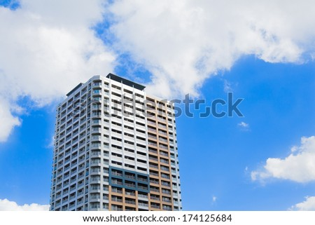 Apartment against the sky - stock photo