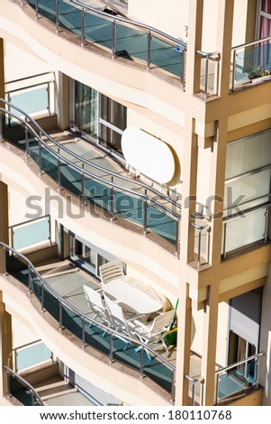 Apartment balcony - stock photo