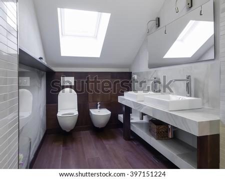 Apartment bathroom - stock photo