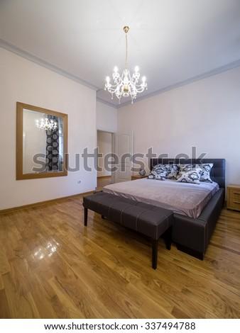 Apartment bedroom  interior - stock photo
