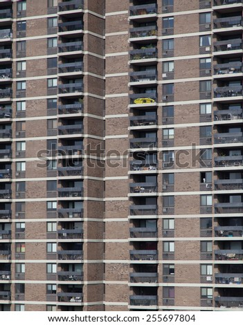Apartment building in New York City - stock photo