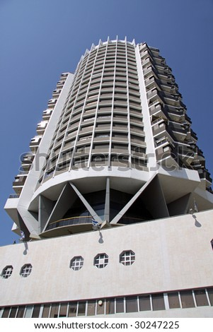 Apartment Building in Tel Aviv.Israel - stock photo