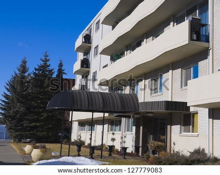 Apartment building in the city,  Residential architecture