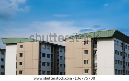 apartment building,real estate retirement investment property town house condo flats - stock photo