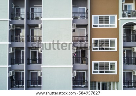 Apartment Building Windows Pattern