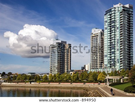 Apartment buildings. False Creek. Vancouver
