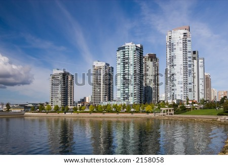 Apartment buildings in Downtown Vancouver.