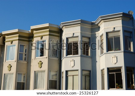 Apartment buildings; Mission District; San Francisco, California