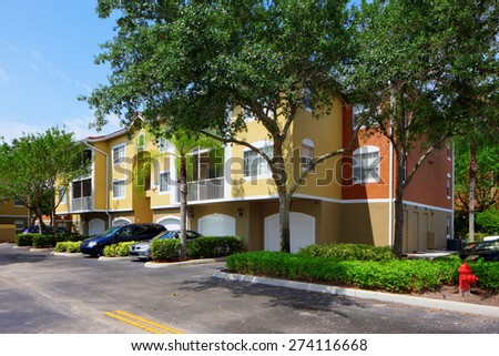 Apartment complex - stock photo