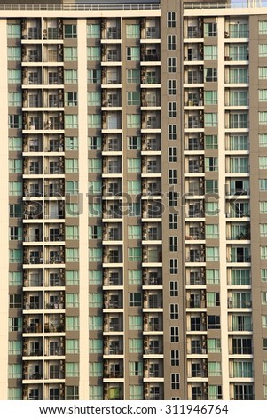 Apartment Condo Building Detail - stock photo