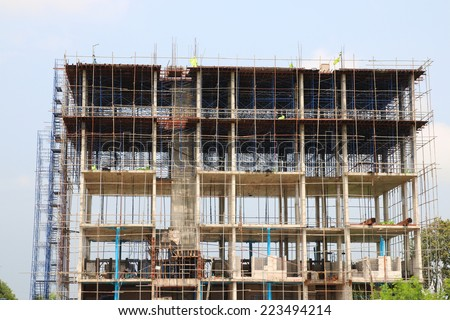 Apartment during construction - stock photo