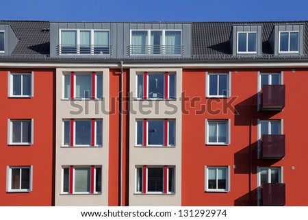 apartment house in a city - stock photo