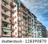 Apartment houses in Thessaloniki city,Greece - stock photo