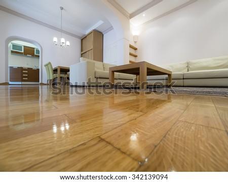 Apartment living room interior - stock photo