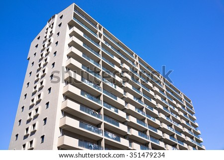 Apartment of Japan - stock photo