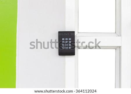 Apartment Security keypad Lock - stock photo