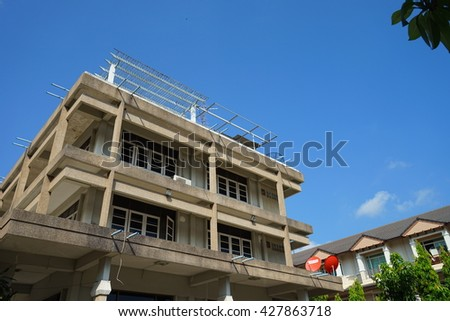 apartment tropical style - stock photo