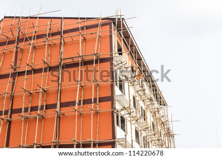 Apartment under construction - stock photo
