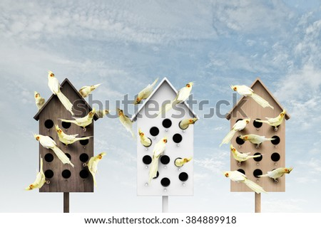 Apartments for friendly living - stock photo