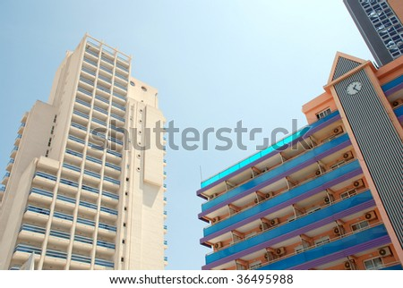 Apartments in Benidorm on the Costa Blanca in sunny Spain