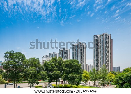apartments in Chengdu, China - stock photo