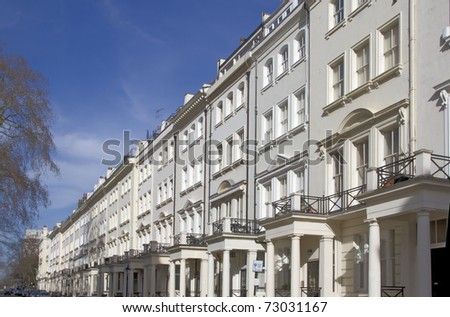 Apartments in Knightsbridge and Chelsea, London, UK - stock photo