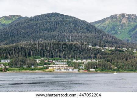 Apartments on Coast of Alaska - stock photo