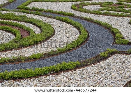 Apeldoorn, Netherlands, June 30, 2016: Baroque Garden at Het Loo in Apeldoorn, Netherlands - stock photo