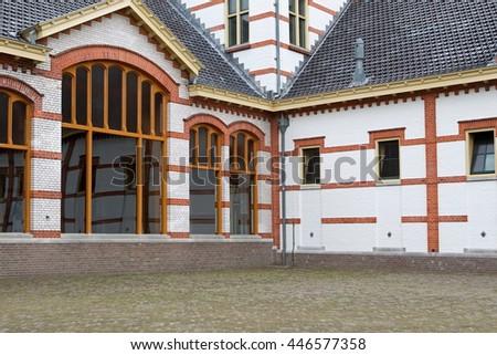 Apeldoorn, Netherlands, June 30, 2016: Coach house Het Loo Palace in Apeldoorn, Netherlands - stock photo
