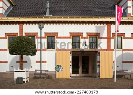 Apeldoorn, Netherlands - October 31, 2014: stable complex Het Loo Palace in Apeldoorn and coach house. - stock photo