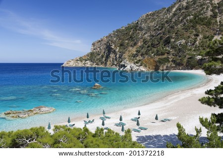 Apella beach on Karpathos island, Greece - stock photo