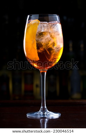 aperol cocktail - stock photo