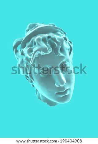 Aphrodite ancient statue head render - stock photo