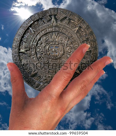 Apocalypse.21.12.2012.Ancient predictions.Secrets of planet of Earth.Parade of planets. - stock photo