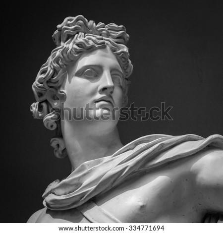 Apollo Belvedere statue. Detail Vatican museum - stock photo