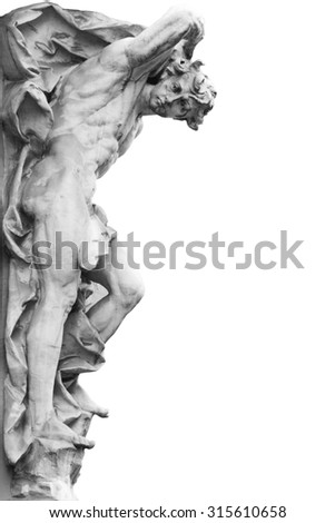 Apollo is the son of Zeus and Fly, one of the Olympic gods. He is the god of light, music and harmony. - stock photo