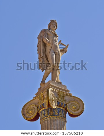 Apollo the ancient Greek god of music and poetry - stock photo