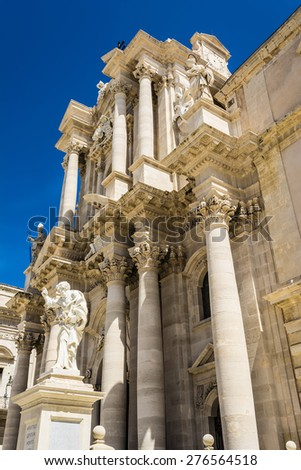 Apostle statue in Cathedral church in Syracuse, Sicily, Italy - stock photo