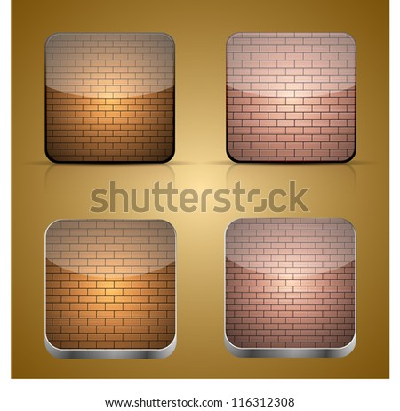 app brick icon set