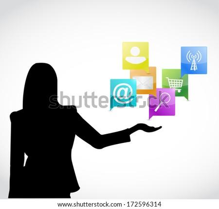 app presentation concept illustration design over a white background - stock photo