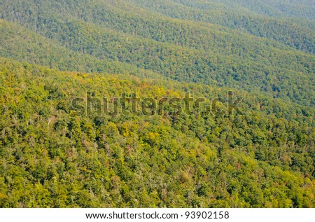 Appalachian Mountains along the Blue Ridge Parkway - stock photo