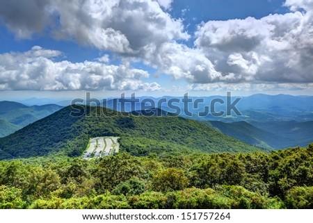 Appalachian mountains in north Georgia, USA. - stock photo