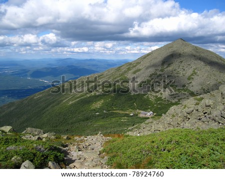 Appalachian Trail in New Hampshire - stock photo