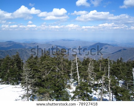 Appalachian Trail in North Carolina and Tennessee - stock photo