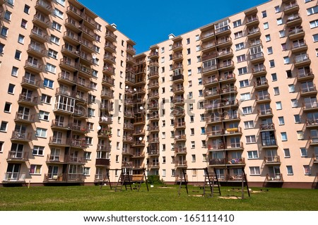 Appartment Buildings - stock photo