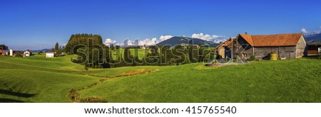 Appenzell landscape, Switzerland - stock photo